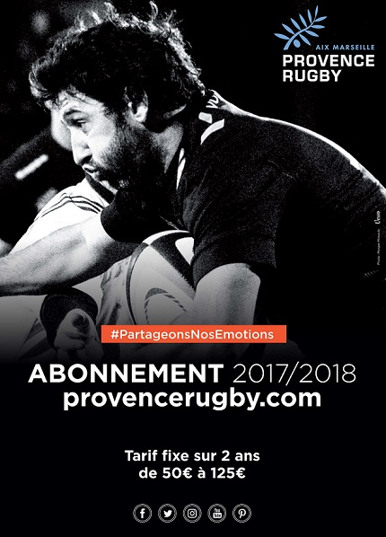 Abonnement 2017/2018 Provence Rugby