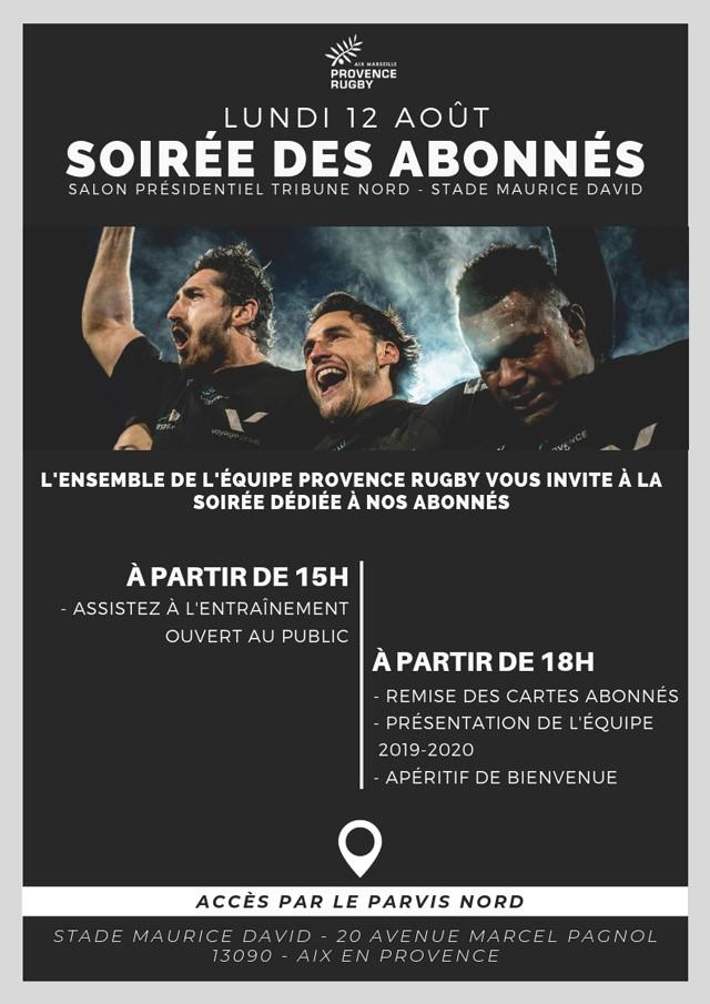 Remise de vos cartes à Maurice-David ! Avant le lancement de cette nouvelle saison 2019/2020, Provence Rugby vous invite à récupérer vos cartes d'abonnement Lundi 12 aout- à partir de 15h